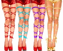 sexy Metallic PVC Faux Leather glisten lingerie Stockings tights PANTY pole dancing nightclub Party  6290