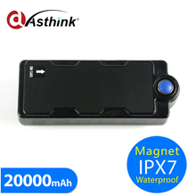 850/2100Mhz Or 900/1900MHz 3G2G 20000mAh waterproof IPX67 magnetic gps tracker Car Device On Google Map tracker or mobile phone(China)