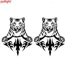 2 x Large Car Side Tiger Flame Stickers Fire Art Graphic 4x4 Vinyl decal(China)