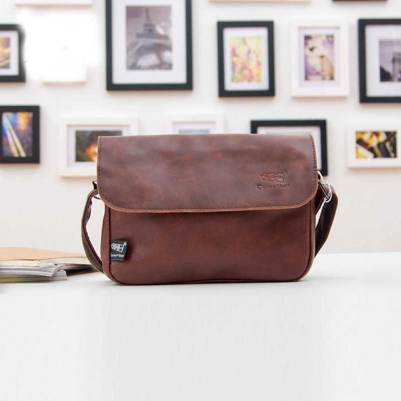 Hot 2017 New Arrival Fashion Black Leather Bags Casual Small Men Messenger Bags Vintage Shoulder Bags Travel Bags bolsos<br><br>Aliexpress