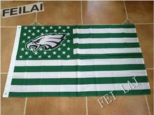 3ft x5ft flag NFL Philadelphia Eagles flag polyester Hand flag(China)