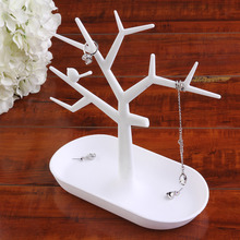 2016 New Multifunctional Tree Branch Shape White color Jewelry Display Earring Bracelet Necklace Ring Display stand for earrings