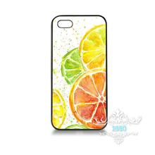 Juicy Citrus Watercolor orange juice mobile phone cover case for iPhone 4S 5S 5C 6S 6S Plus 7 7Plus Samsung Galaxy S4 S5 S6 S7