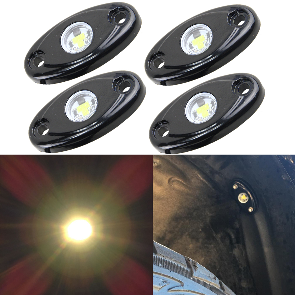 4 x 9W CREE Chips Warm Yellow LED Rock Light 12V fit for JEEP Offroad Truck 4X4 Under Body Trail Rig Cars Motorcycles Led lamps<br><br>Aliexpress