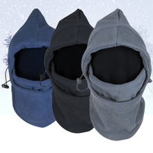 New Arrival Face Mask Thermal Fleece Balaclava Hood Swat Bike wind-proof and sand-proof Stopper Hats Caps Skullies Beanies(China)