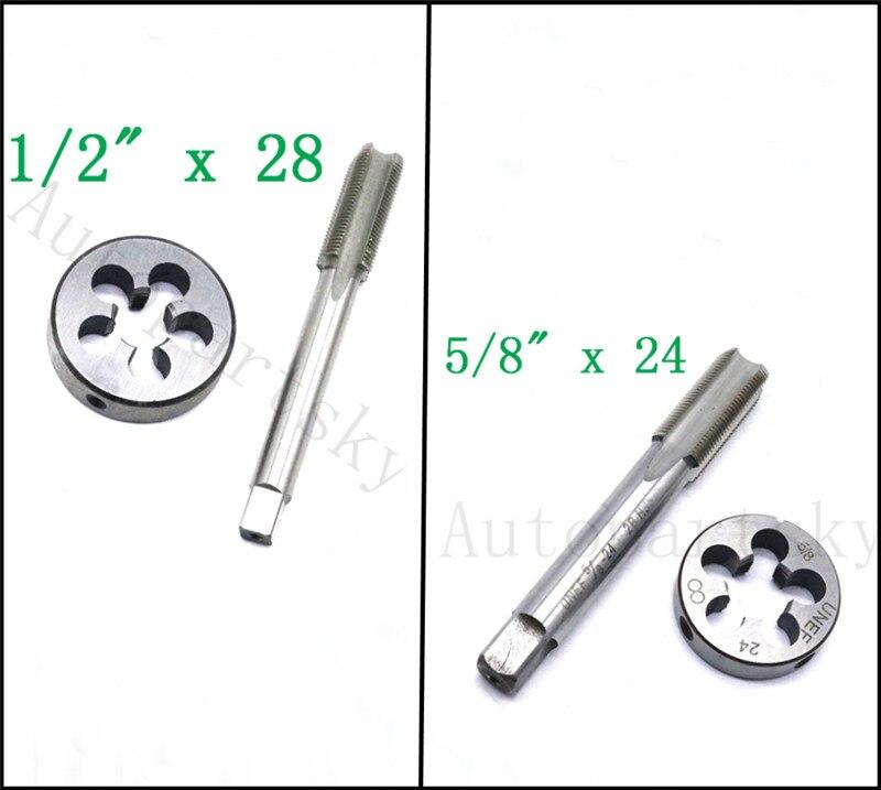 1pc HSS Machine 5//8-32 UN Plug Tap and 1pc 5//8-32 UN Die Threading Tool