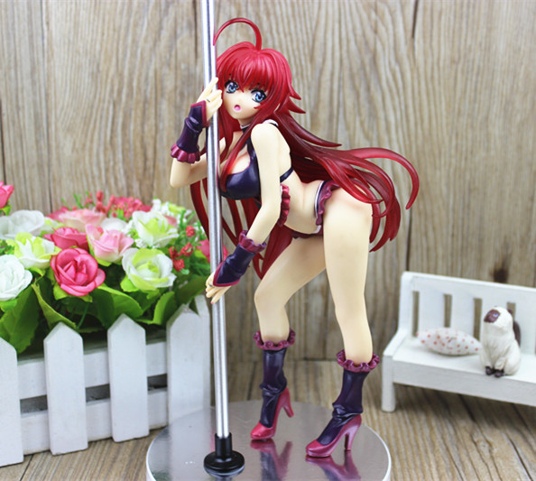 High School DxD Rias Gremory Pole Dance ver. 1/7 Sexy PVC Action Figure Toy 30cm KT1324<br><br>Aliexpress