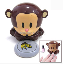 Nail tools New Monkey Hand Nail Art Tips quick blow Polish Dryer Blower Manicure Care F#OS Art lalic