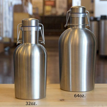 Homebrew 32OZ Stainless Steel Beer Growler 1.0L Secure Swing Top Lid Craft Beer Bottle Saver BPA Free(China)