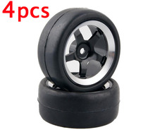 4pcs 1/10 RC on road car racing tires with metal aluminium alloy wheel hubs RC Touring car tyres 65mm