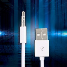 White Portable Fast USB 2.0 Data Transfer SYNC Charger Cable Cord For Apple iPod Shuffle 1st to 2nd