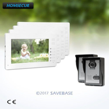 HOMSECUR 7inch Video Door Intercom System with Mute Mode for Home Security for Apartment(China)