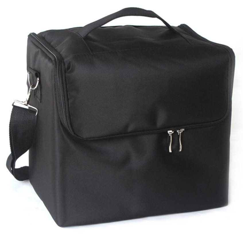 Professional Makeup Bags Cloth Cosmetics Boxes Portable Shoulder-style Artists make up bag neceser organizer maleta de maquiagem<br>