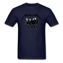 men Music Metallica T Shirts Roll designs Natural Clothing for men  O-neck Fashion t-shirts