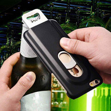 Beers Bottle Opener Hard Case for iPhone 5 5s se 6 6S 7 Aluminum Back Cover Metal With Inner Stainless Steel(China)