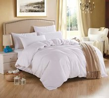 New White theme high quality home bedding set, 2 pillow case, 1 bed sheet and 1 duvet cover bed cover(China)