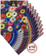 Multicolors floral African sego headtie headgear African Head tie scarf Wrapper 10 Packs per Lot 20 pieces total Wise choice(China)