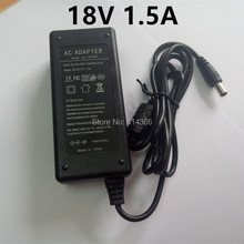 1PCS 18V 1.5A AC 100V-240V Converter Adapter DC 18V 1.5A 1500mA Power Supply AU US UK EU Plug 5.5mm x 2.1MM