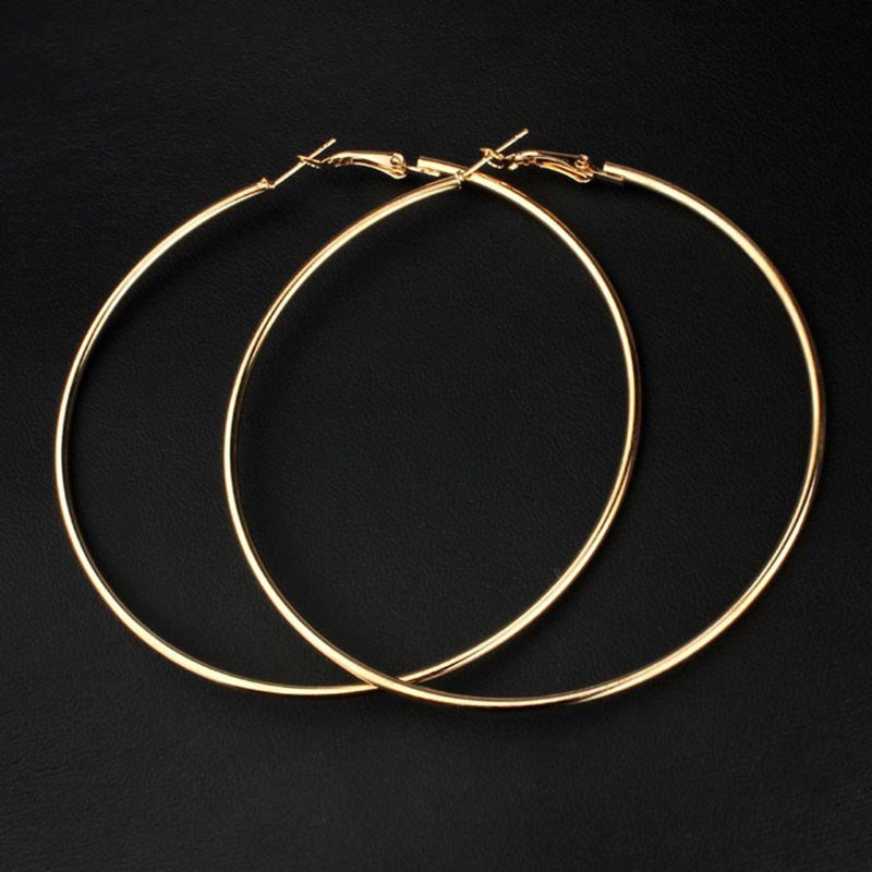 VIVILADY-Hot-New-8cm-Big-Hoop-Earrings-Women-Mother-Gold-Color-Fashion-Jewelry-Bijoux-Accessory-Birthday