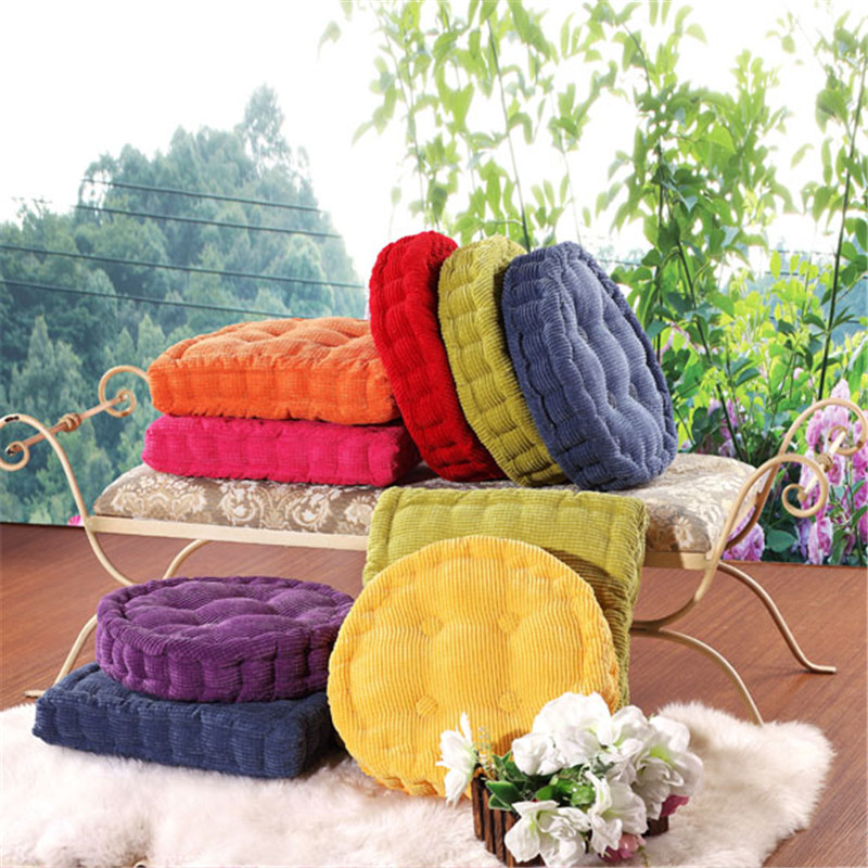 1pcs 40x40cm round and square soft warm thickened corduroy seat chair cushions mat pads for chair couch floor