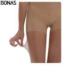 Buy BONAS Summer Sun Protection Tights Women Sexy High waist Nylon Breathable Pantyhose Girl Stretchy Resistant Slim Stockings