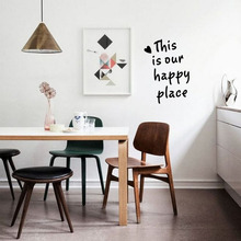 This Is Our Happy Place Quotes Vinyl Wall Art Decals Wall Stickers for Livingroom Bedroom Decoration(China)