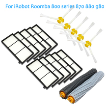 1 Tangle-Free Debris Extractor brush & 5 Side Brushes&10 Hepa Filter For iRobot Roomba 800 series 870 880 980 Vacuum Cleaning