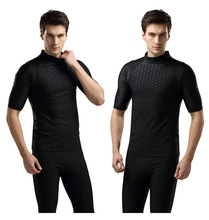 SBART rash guard suit for men uv protection long sleeve windsurf surfing swimsuit swimwear sharkskin swimming shirt diving suit