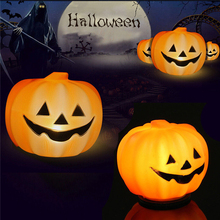 Halloween Pumpkin Lantern Orange LED Light Festival Lantern Home Party Prop Decoration Light #250817(China)