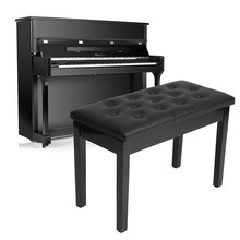 Zebra 75X35X50CM Padded Double Duet Seat Piano Keyboard Bench PU Leather Piano Concert Chair Ebony Keyboard Storage Seat