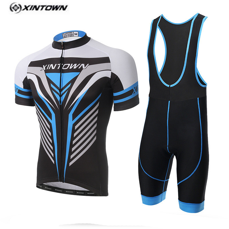 XINTOWN White Bike Jersey bib shorts set Men Cycling Clothing bicycle Top Bottom Suit Ropa Ciclismo maillot MTB shirt blouse <br>