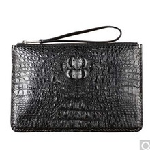 fasidu crocodile leather man clutch bag large volume leather document large clip bag hand grip small(China)