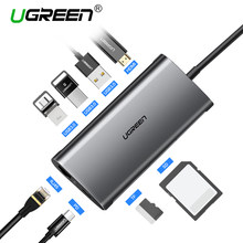 Ugreen USB HUB USB C к HDMI RJ45 Thunderbolt 3 адаптер для MacBook samsung Galaxy S9/примечание 9 huawei p20 Pro Тип C USB 3,0 хаб(China)