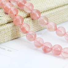 10mm Pink Watermelon Tourmaline Round Carnelian Beads Ornaments Crafts Loose Semi Finished Stones Balls Gifts Jewelry Making