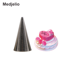 Medjelio Round mouth easy Drawing Writing Nozzle Pastry Icing Piping Tips 304 Stainless Steel Cake Baking Decorating Tools(China)