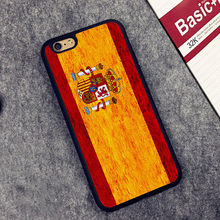 flag of spain Printed Soft Rubber Mobile Phone Cases For iPhone 6 6S Plus 7 7 Plus 5 5S 5C SE 4 4S Cover Skin Shell