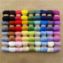 Wool Yarn 36 Colors/ Set DIY Hand Knitting Yarn 3G Per Color 100% Wool Felt Toys Manufacturing Materials(China)