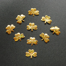 1000PCS Christmas ornament Merry Christmas decoration silver gold clover applique gift box headband accessory home craft