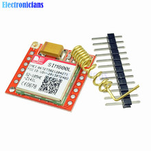 Mini Smallest SIM800L GPRS GSM Module MicroSIM Card Core Wireless Board Quad-band TTL Serial Port With Antenna for Arduino(China)