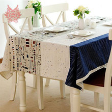 Hot sale American country style print Table Cloth cotton/linen fabric for Dining Table Cover Kitchen Home Textile SP1059