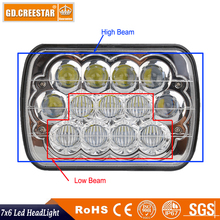 New 7x5 7x6 led headlight with Emark certification used for truck kenworth high low beam cree Headlamp with blue lights x1pc(China)