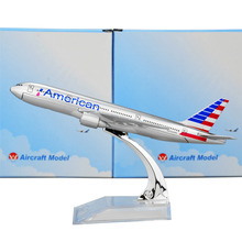 American Airlines Boeing 777 16cm Airplane Child Birthday Gift Plane Models Toys Free Shippping Christmas gift(China)
