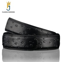 FAJARINA Quality Ostrich Dot Pattern Genuine Leather Cow Skin Cowhide Automatic Ratchet Style 35mm Belts without Buckle AUTBT012