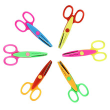 6pcs Decorative Wave Lace Edge Craft Stationery Photos Photograph Scissors DIY For Kids Scrapbook Handmade Artwork Card(China)