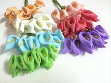 2014 NEW2.5CMX144PCS/ bag 7different colours Mulberry Calla Lily Paper Flower Bouquet/Scrapbooking Flower simulation flowers PE