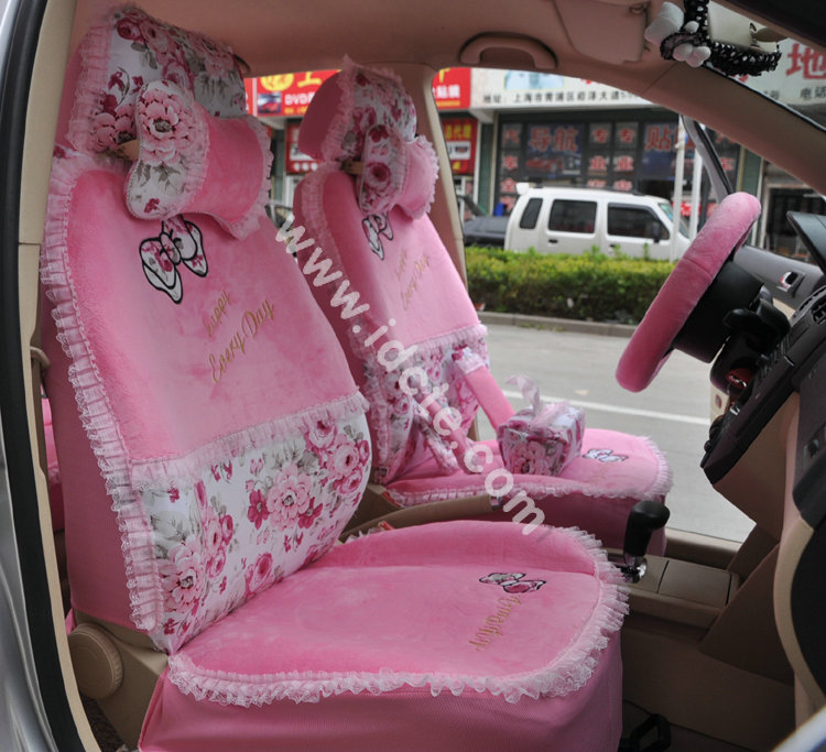 Flower-Print-Lace-Car-Seat-Covers-for-Women-Universal-Short-Plush-Winter-Auto-Seat-Covers-Sets-Interior-Accessories-4