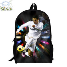 16Inch Cristiano Ronaldo Backpack Customized Mochila Masculina Travel Bag Mochila Escolar Teenage Free Shipping A046(China)