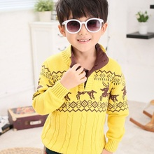 GGAPP Kids Christmas Sweater Children Winter Sweater Boys Turtleneck Pullover Cardigan Baby Outwear with Christmas Deer