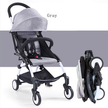 Portable Travel Aluminum Alloy Baby Stroller Multifunctional Pushchair Pram Foldable Can Sit Can Lie Baby Carriage MT100800