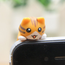 Cute Cat Dust Plug For  Iphone 5 5s 6 6s For Samsung and All 3.5mm Earphone Jack Plug Headset Stopper Cap
